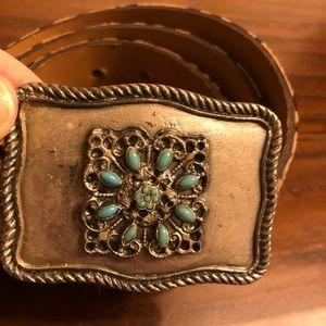 Accessories - Vintage Belt size 85 with unique Buckle